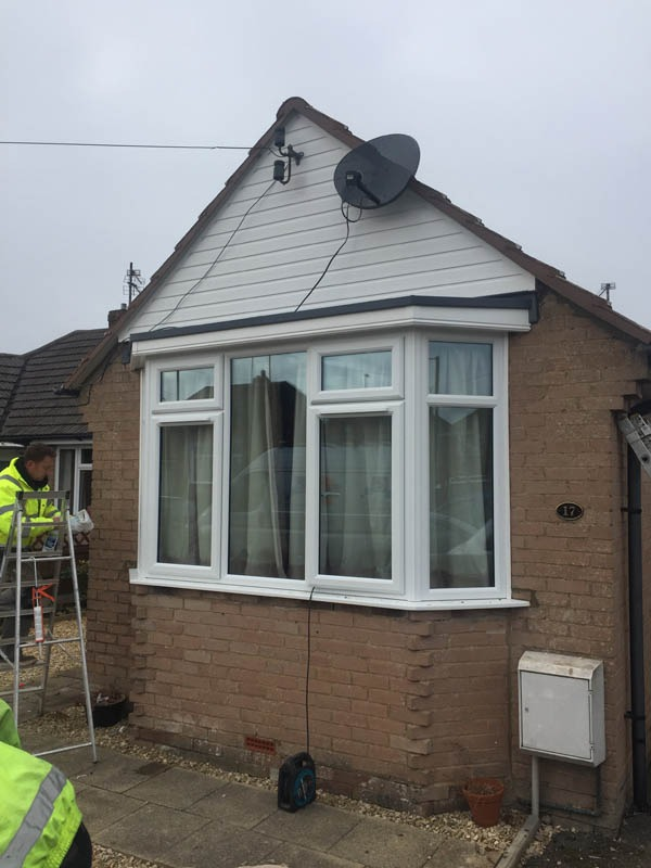 New bay window cheltenham gloucester cladding for New window company
