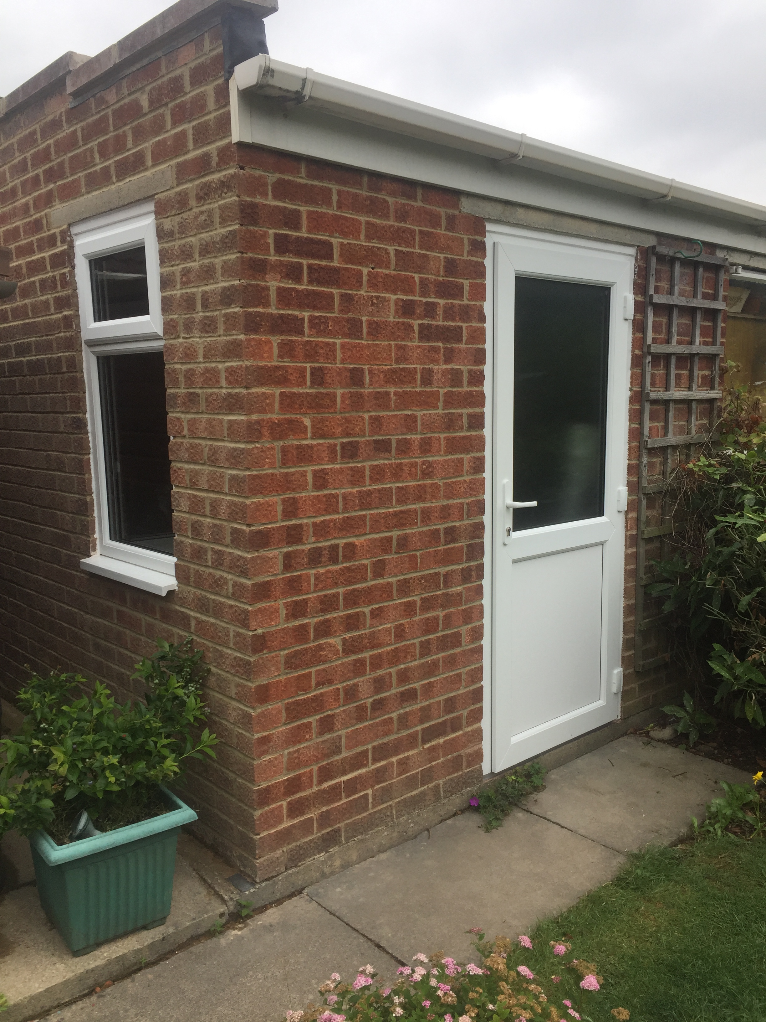 new pvcu door window to existing garage cheltenham