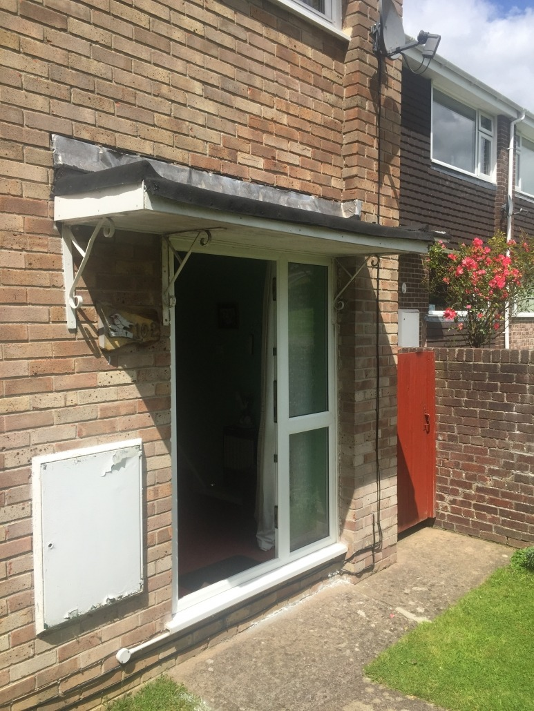 Share this entry & Bespoke made to measure composite maintenance free door canopy ...
