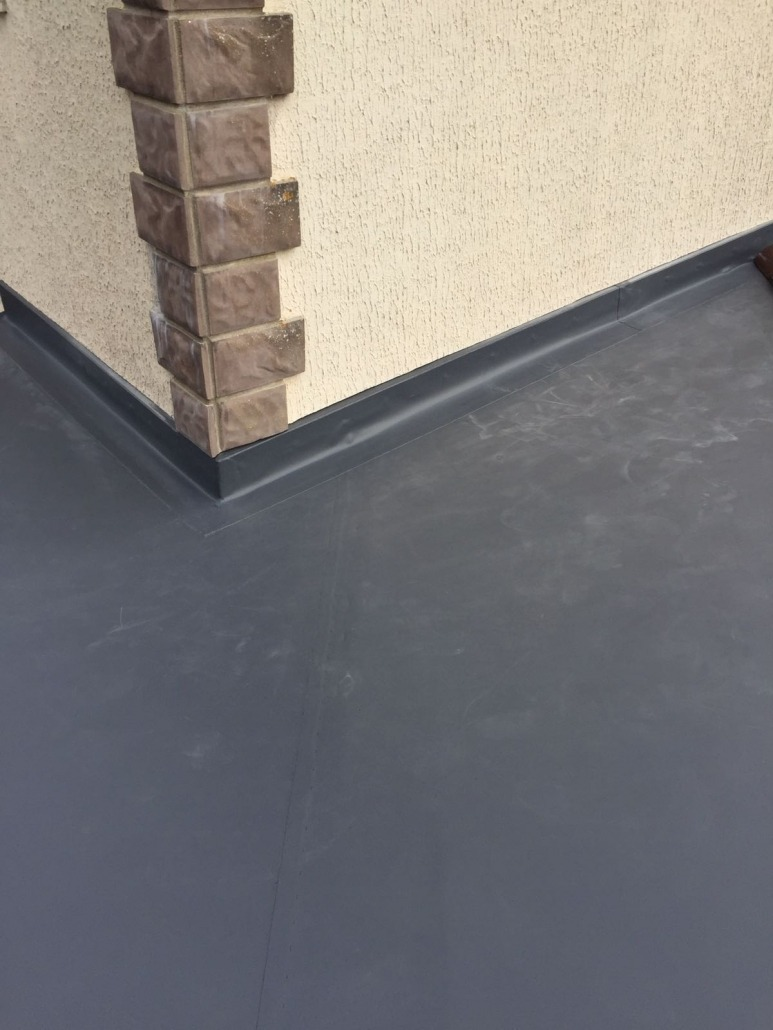 New Garage Refurb New Sarnafil Roofing Membrane New Fascias Gutter Etc New