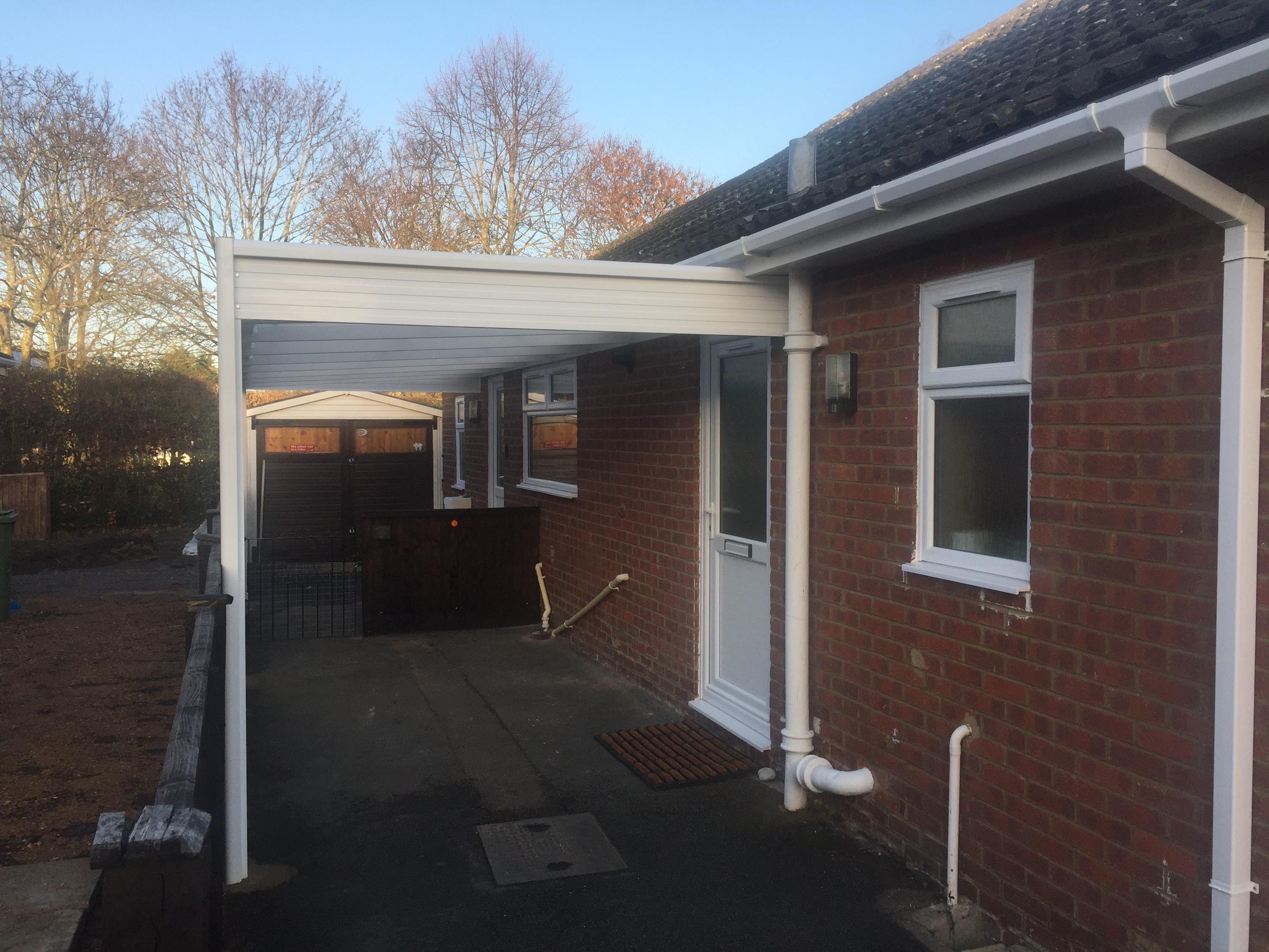 New White Deluxe Aluminium Carport Replacement Fascia