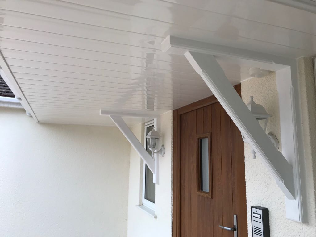Over Door Canopy New Cladding Fascas Soffits Guttering